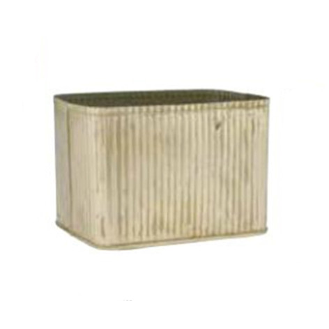gold ribbed planter