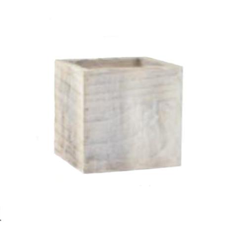 white washed cube
