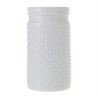 white hobnail vase