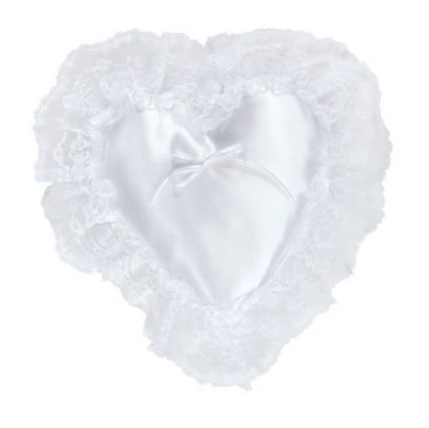 satin heart pillow