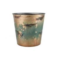 blue rust pot