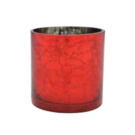 red crackle cylinder