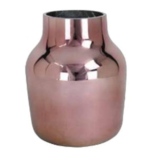rose gold metallic vase