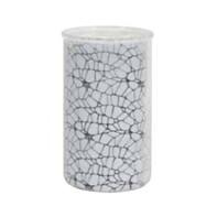 frosted crackle vase