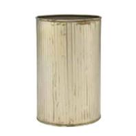 galvanized ribbed vase
