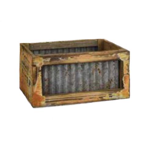 wood & aluminum box