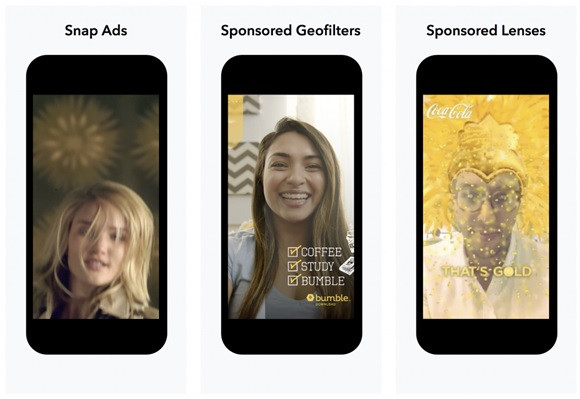 Snapchat advertising options