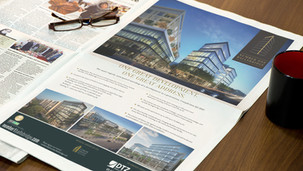 Project presentation concept, brochure, infographics, photography, copywriting, plans, print.