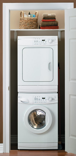 In-unit stackable laundry
