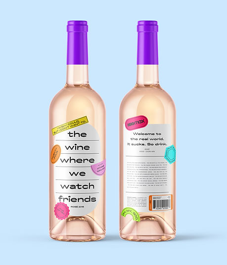 Wine Where We Watch Friends Front and Back