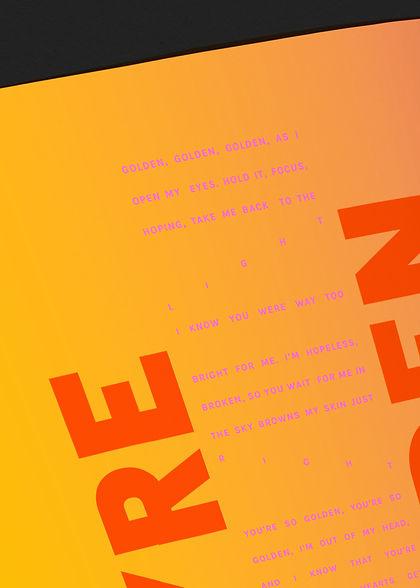 Fine Line Typography Close Up
