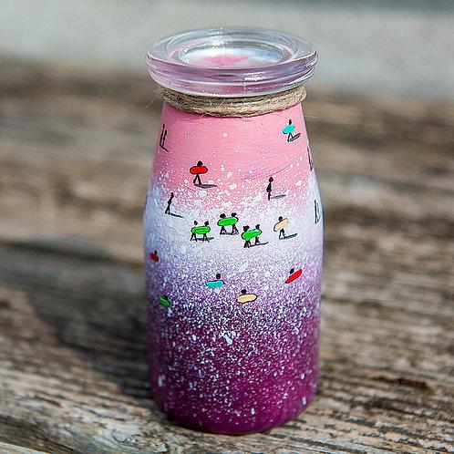 Hand Painted Vase- Purple Surf