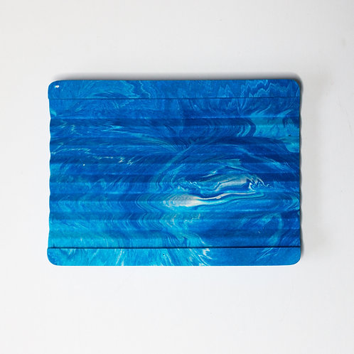 Blue Marble Effect Soap Dish