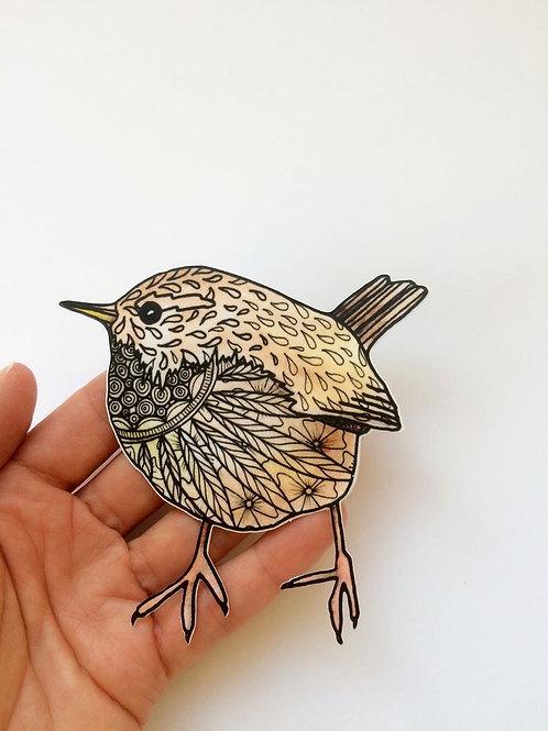 Wren Wall Art Bird Sticker