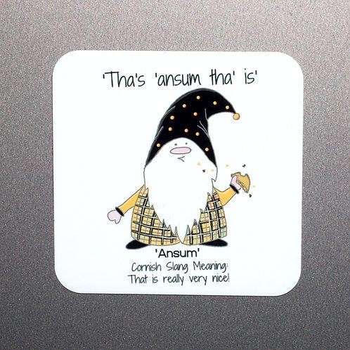 'Ansum' Cornish Gnome Magnet
