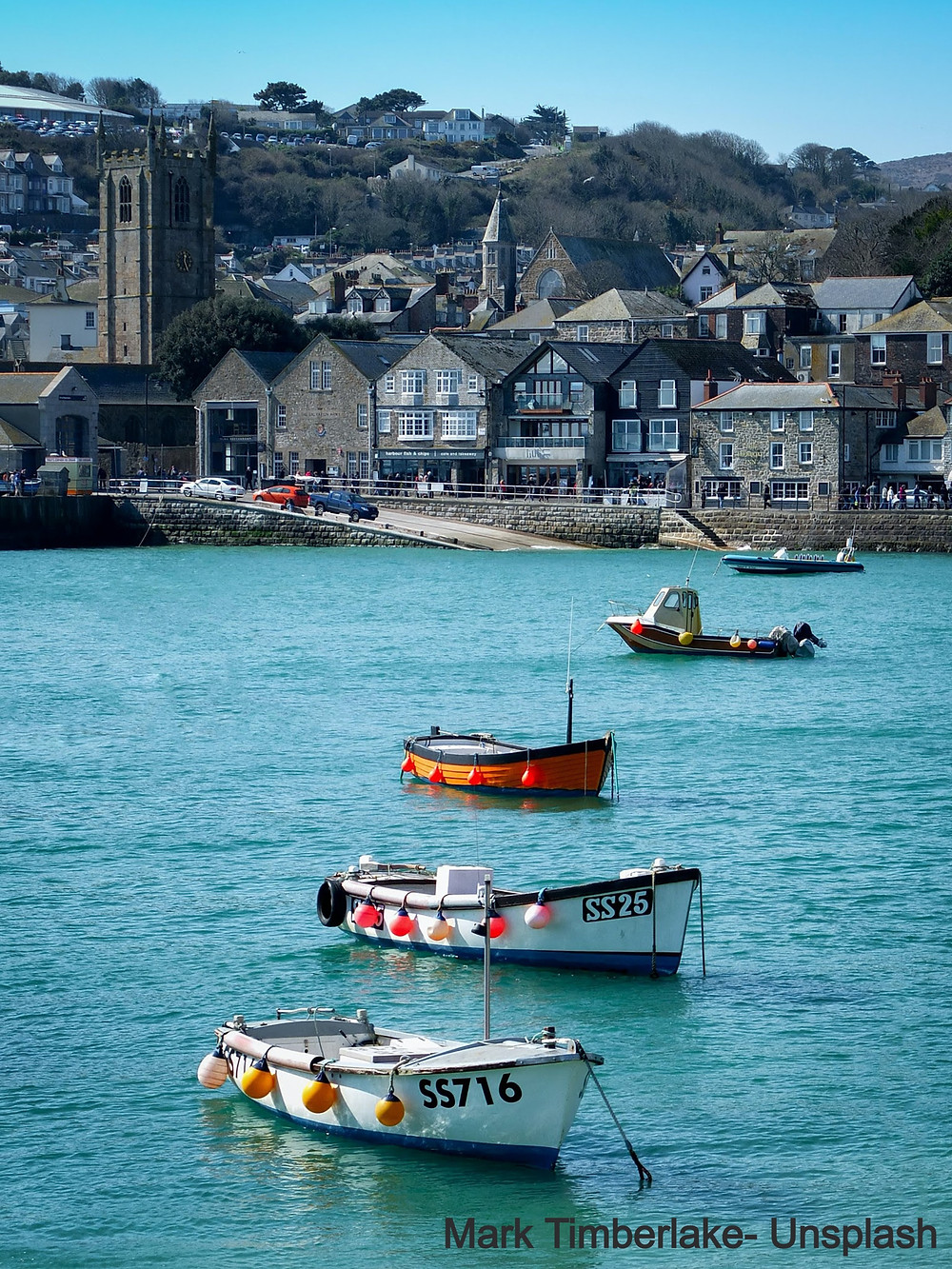 St Ives Harbour Cornwall Highstreet