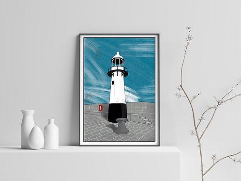 Smeaton's Pier, St Ives Print