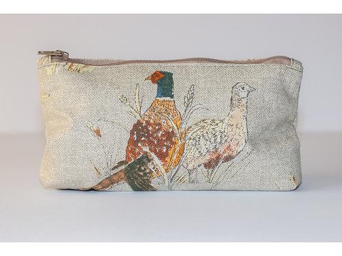 Birds Zip Up Pouch Bag
