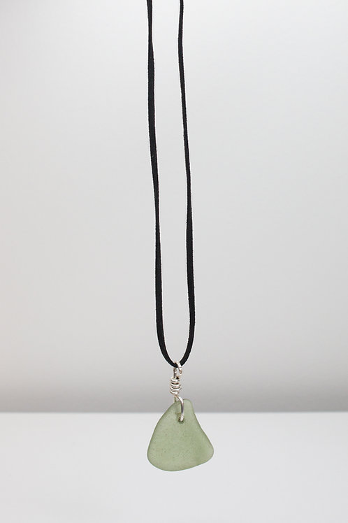 Light Green Sea Glass Necklace Collection