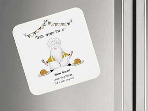'Ansum' Cornish Baker Gnome Magnet