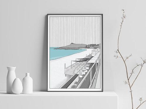 Porth Meor Beach, St Ives Print