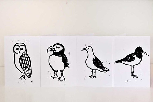 Four Birds Card Set