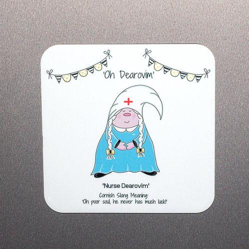 'Dearovim' Nurse Cornish Gnome Magnet