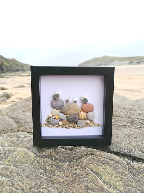 Seaguls At The Beach Art Picture Frame