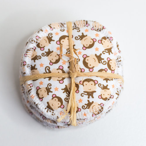 Cheeky Monkey Reusable Make Up Pads- 8 Pack