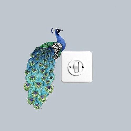 Peacock Wall Art Bird Sticker