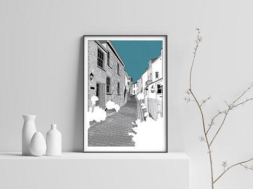 Virgin Street, St Ives Print