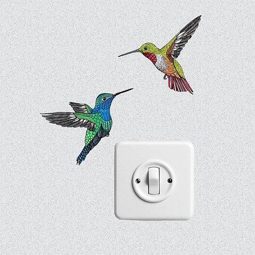 Flying Hummingbirds Wall Art Bird Sticker