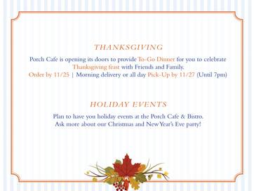 To-Go Thanksgiving Dinner !