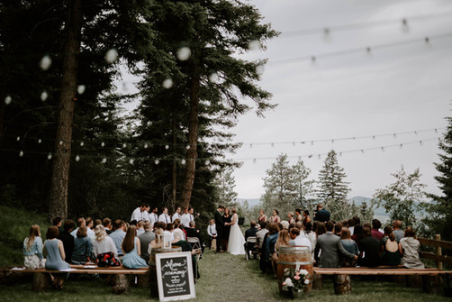 Wedding Ceremony at look out