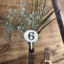 Flower Table Number Lollipop