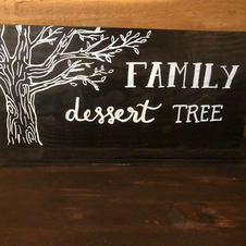 Family Dessert Tree sign