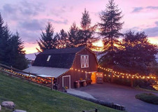 Barn at Sunset In August