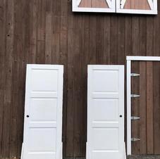 White Standing Vintage Doors