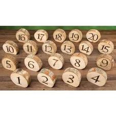 Wood Round Numbers