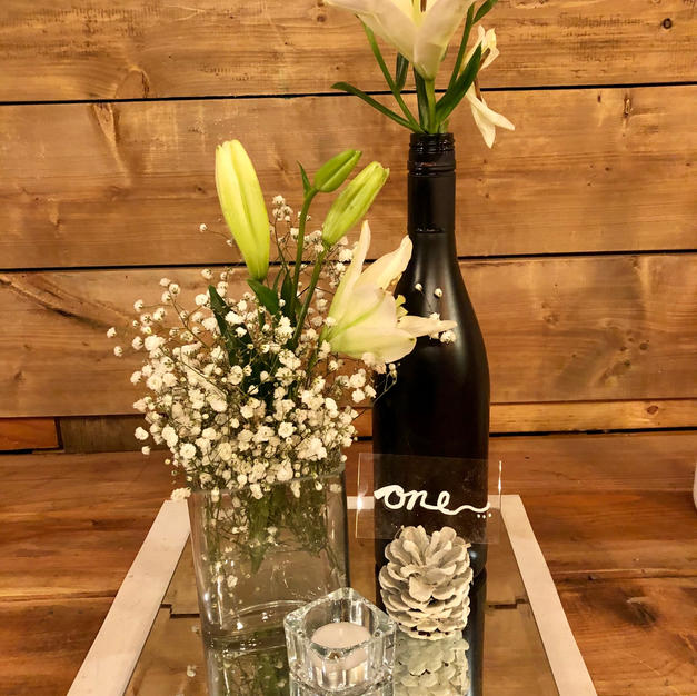 Black and Crystal centrepiece