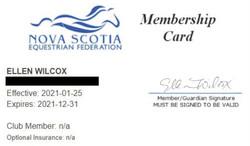 NSEF Membership Card 2021