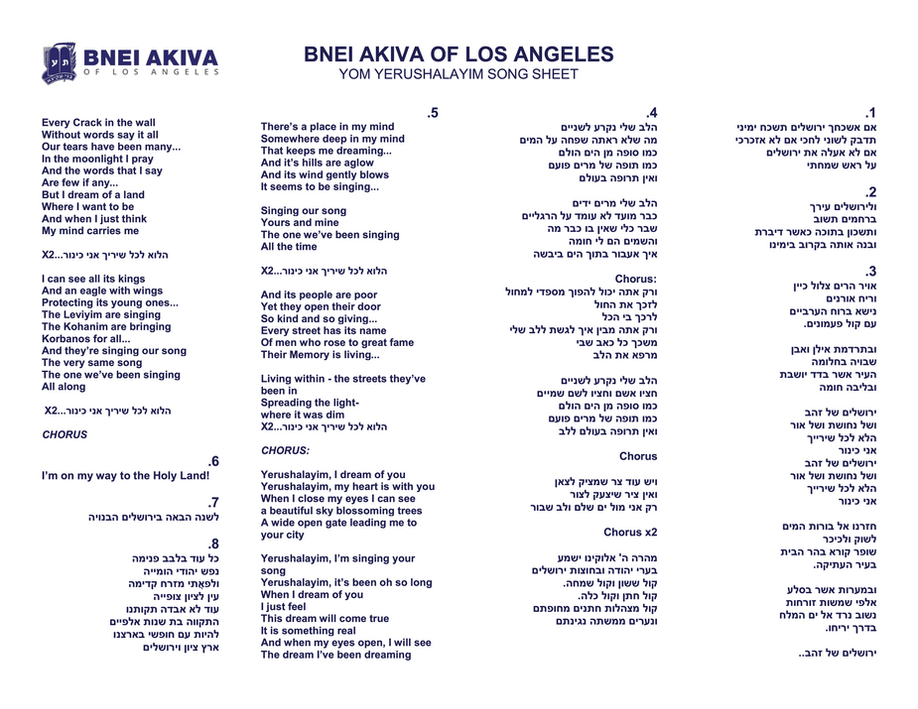 Yom Yerushalayim Song Sheet.png