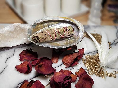 Abalone Shell and Yerba Santa Smudging Kit