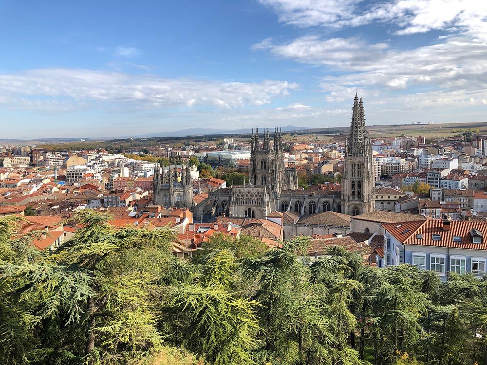 Vue générale de Burgos prise du château