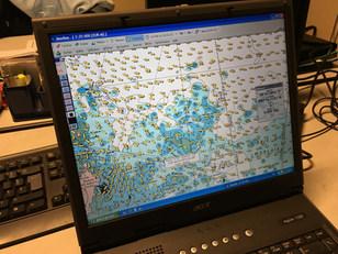 Le logiciel Maxsea équipant l'hydrojet de la Brigade nautique
