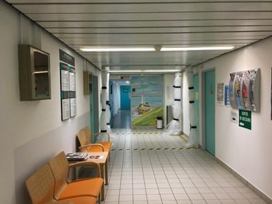 L'entrée de l'Unité Médico-légale de l'Hôpital Universitaire de la Cavale Blanche à Brest