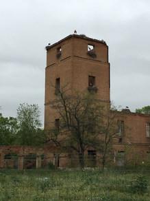 Les cigognes sur une tour de l'ancien rempart d'Alcalá