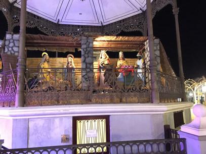 La crêche de Noël, Place Cervantes