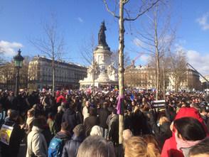 Place de la République, le 11 janvier 2015