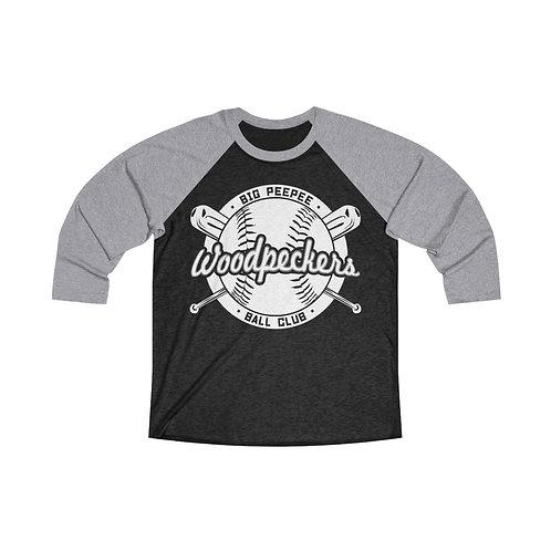 Big Peepee Club© Woodpeckers Baseball Tee